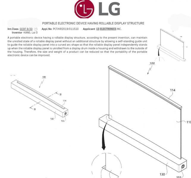 LG запатентовала дизайн ноутбука с выдвижным дисплеем и клавиатурой