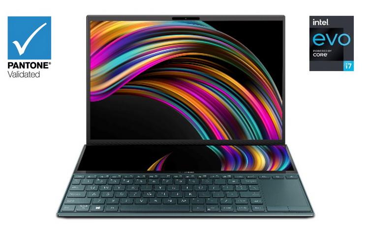 ASUS представила ультрабук ZenBook Duo с двумя экранами и процессором Intel Tiger Lake