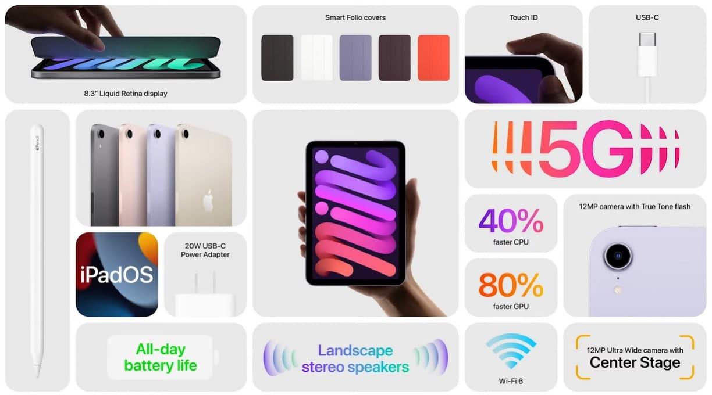 Apple представила новый iPad Mini — увеличенный экран, поддержка 5G и Apple Pencil