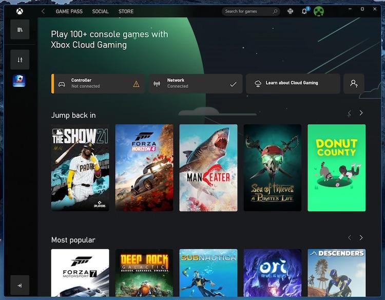Пользователи ПК получили доступ к xCloud через приложение Xbox для Windows 10