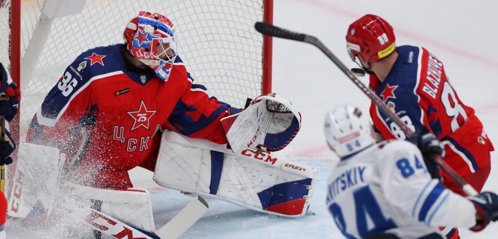 Три гола за 108 секунд перевернули ход матча между ЦСКА и «Барысом»