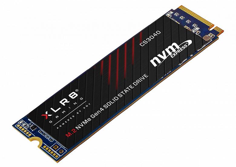 Твердотельный накопитель PNY XLR8 CS3140 оснащен интерфейсом PCIe Gen4 x4