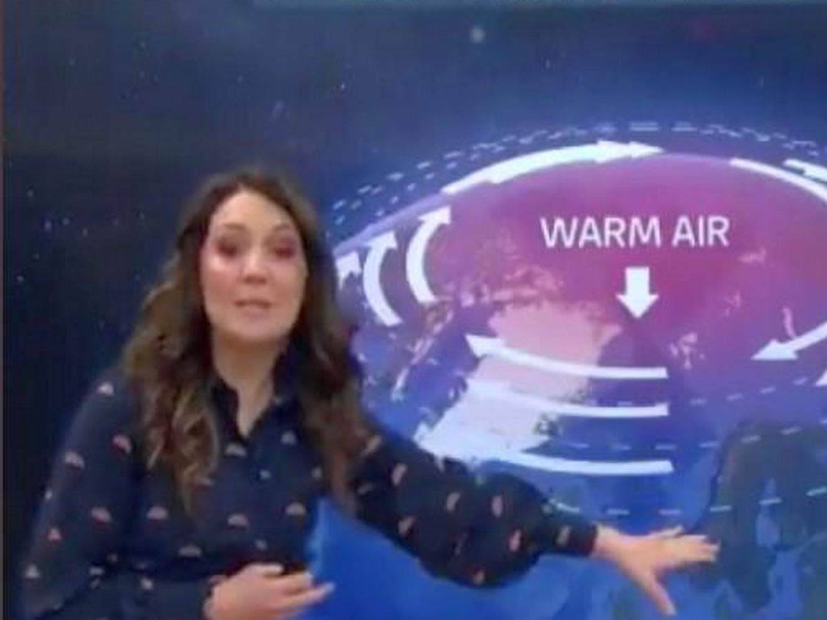 Ведущая прогноза погоды оговорилась и назвала непогоду неприличным словом