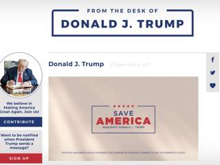 'Соцсеть' Дональда Трампа оказалась блогом с защитой от россиян