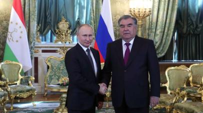 Путин и Рахмон обсудят ситуацию на границе Киргизии и Таджикистана