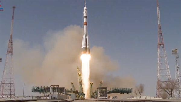 Ракета «Союз» с кораблем «Ю.А. Гагарин» стартовала с Байконура