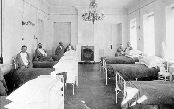 Где в прошлом веке располагались курские госпитали?