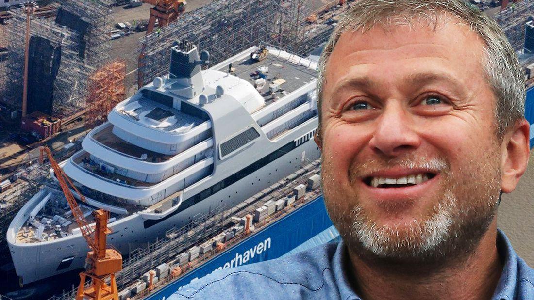 Новая яхта Абрамовича стоит 44 миллиарда, вмещает 48 кают и восемь палуб: фото